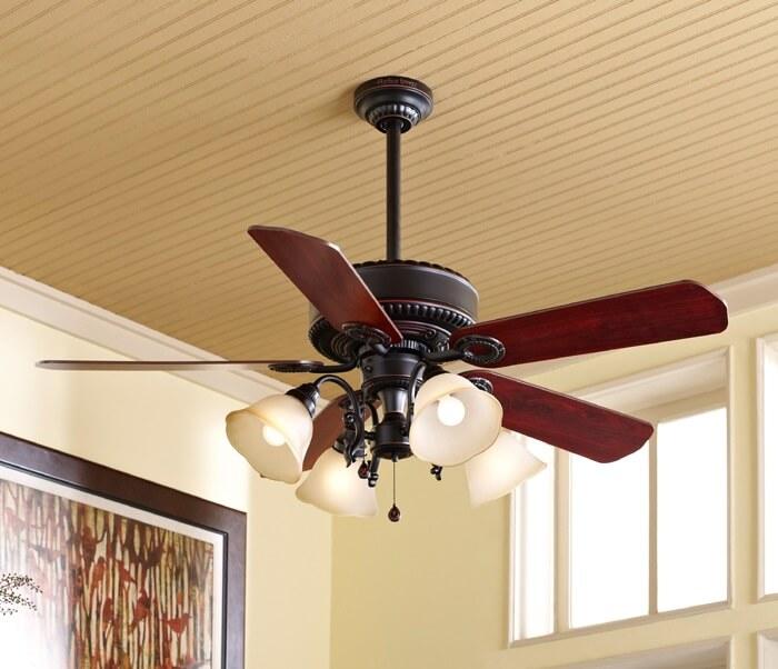 instalação ventilador teto